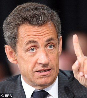 Attacked: Nicolas Sarkozy has been accused of 'sacrilege' towards Allied forces
